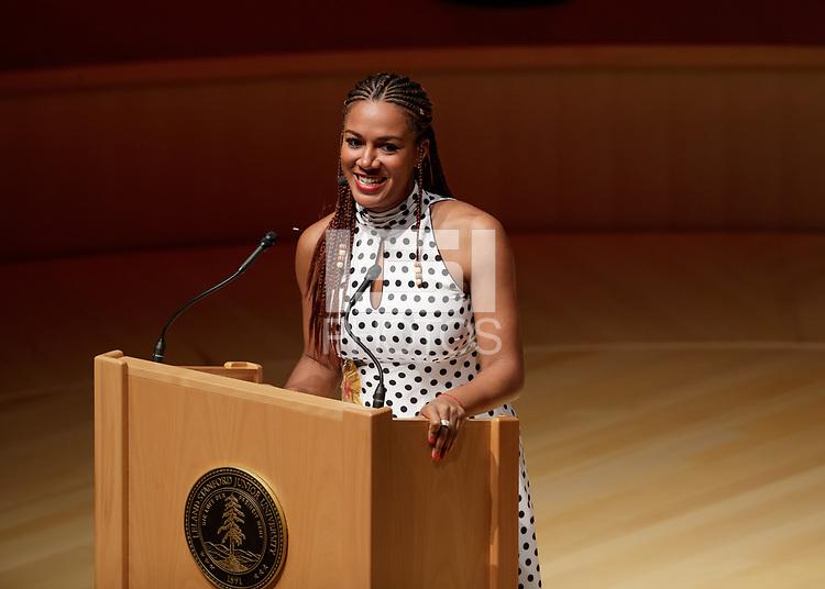 STANFORD, CA - September 7, 2018: Stanford Hall of Fame 2018 Ceremony at Bing Concert Hall.