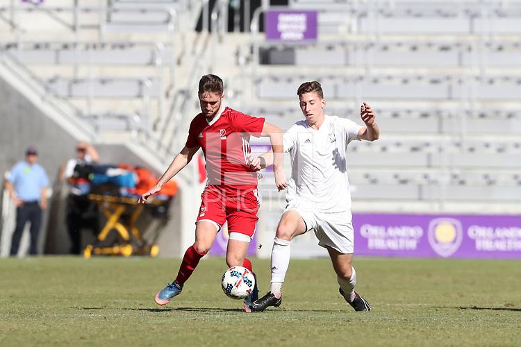 Orlando, Florida - Wednesday January 17, 2018: Sam Gainford and Josh Morton. Match Day 3 of the 2018 adidas MLS Player Combine was held Orlando City Stadium.