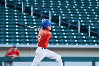 Vinnie Rodriguez (8) of Norco High School in Norco, California during the Baseball Factory All-America Pre-Season Tournament, powered by Under Armour, on January 13, 2018 at Sloan Park Complex in Mesa, Arizona.  (Freek Bouw/Four Seam Images)