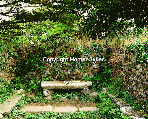 Madron Holy Well and Chapel,  Madron Cornwall. Celtic Britain published by Orion. Remains of St Saint Madderns Cell now a place of Pilgrimage.