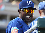 Los Angeles Dodgers face the Arizona Diamondbacks in a spring training game in Scottsdale, Ariz., on Friday, March 18, 2016. <br />Photo by Cathleen Allison
