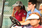 Jenny Suh calls her family to let them know that she won her first championship at Alliance Bank Golf Classic in Syracuse, NY.