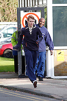 EXCLUSIVE PICTURE: MATRIXPICTURES.CO.UK.PLEASE CREDIT ALL USES..WORLD RIGHTS..Eastenders actor Jamie Borthwick is spotted outside the Eastenders film studios in Elstree Borehamwood, Hertforshire...NOVEMBER 8th 2012..REF: WBD 125145