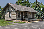 HDR image of Village Menomonee Falls Train Depot relocated to Old Falls Village Historical Museum