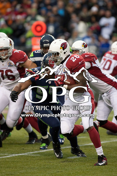 DEC 09, 2012:  Arizona's Beanie Wells against the Seattle Seahawks.  Seattle defeated Arizona 58-0 at CenturyLink Field in Seattle, WA...