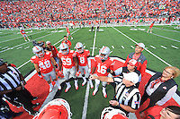 The Ohio State University football team shutout  Rutgers 58-0 in their Big Ten Conference opener. October 1, 2016<br />