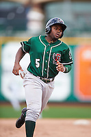 Great Lakes Loons second baseman Cristian Gomez (5) during the second game of a doubleheader against the Fort Wayne TinCaps on May 11, 2016 at Parkview Field in Fort Wayne, Indiana.  Great Lakes defeated Fort Wayne 5-0.  (Mike Janes/Four Seam Images)