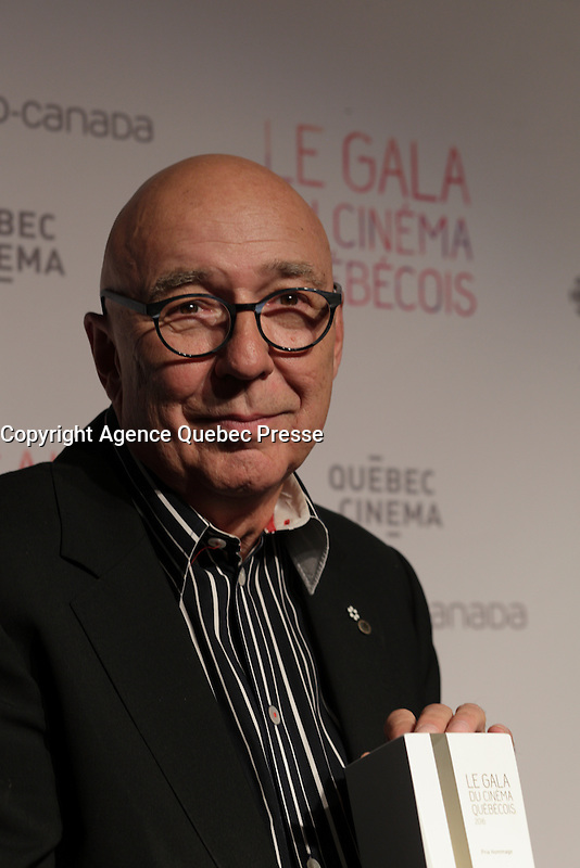 Francois Dompierre<br /> <br /> at the Gala du cinema Quebecois, March 20, 2016<br /> <br /> Photo : Pierre Roussel - Agence Quebec Presse