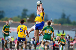 Kerry in action against  Clare in the Munster Minor Football Final at Fitzgerald Stadium on Sunday.