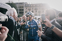 Philippe Gilbert (BEL/Quick Step floors) interviewed post-finish<br /> <br /> Il Lombardia 2017<br /> Bergamo to Como (ITA) 247km