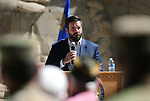 Nevada Division of Emergency Management/Homeland Security Advisor Caleb Cage speaks at the annual Flag Day ceremony and Army's 243rd birthday celebration at the Nevada Veterans Memorial in Carson City, Nev., on Thursday, June 14, 2018. <br /> Photo by Cathleen Allison/Nevada Momentum