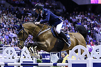OMAHA, NEBRASKA - APR 2: Denis Lynch rides All Star during the Longines FEI World Cup Jumping Final at the CenturyLink Center on April 2, 2017 in Omaha, Nebraska. (Photo by Taylor Pence/Eclipse Sportswire/Getty Images)