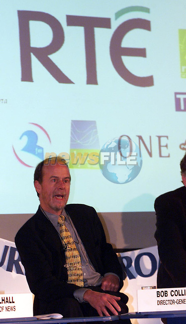 Bob Collins at the RTE public meeting on the future of broadcasting in the Mansion House, Dublin..Picture: Paul Mohan
