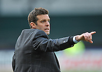 D.C. United Head Coach Ben Olsen. The Philadelphia Union defeated D.C. United 3-2, at RFK Stadium, Sunday April 21, 2013.