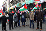 Palestinian demonstrators take part in a protest to mark the third anniversary of the killing of Palestinian Abdulfattah Shareef by Israeli soldiers in the West Bank city of Hebron, on March 24, 2019. Shareef was shoot dead by Israeli soldiers after he stabbed a soldier in Hebron, army said, a video taken by an activist shows an Israeli soldiers shoots Shareef in head as he was laying on the ground injured and neutralized. Photo by Wisam Hashlamoun