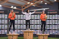 SPEEDSKATING: HAMAR: Vikingskipet, 28-02-2020, ISU World Speed Skating Championships, Sprint, Podium 1000m Ladies, Jutta Leerdam (NED), Miho Takagi (JPN), Jorien ter Mors (NED), ©photo Martin de Jong