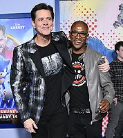 "12 February 2020 - Los Angeles, California - Jim Carey, Tommy Davidson. ""Sonic the Hedgehog"" Los Angeles Premiere held at the Regency Village Theater. Photo Credit: Birdie Thompson/AdMedia"