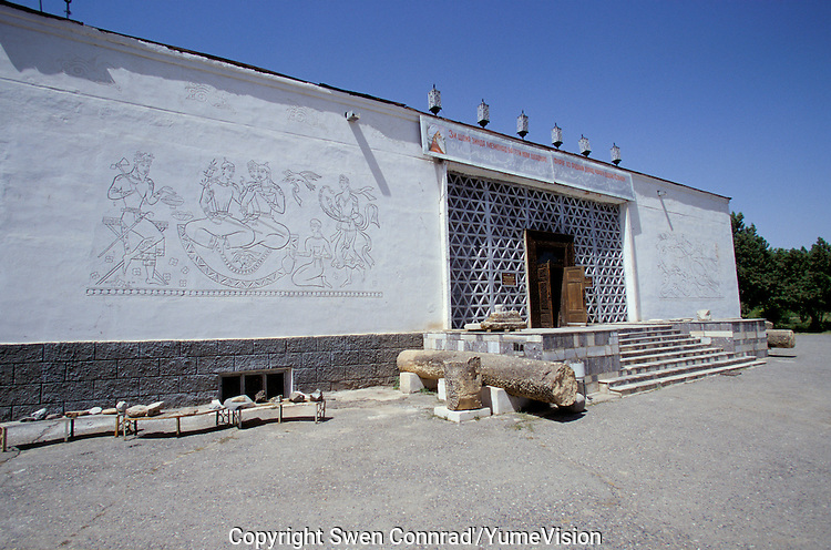 The Penjikent Museum in central western Tajikistan