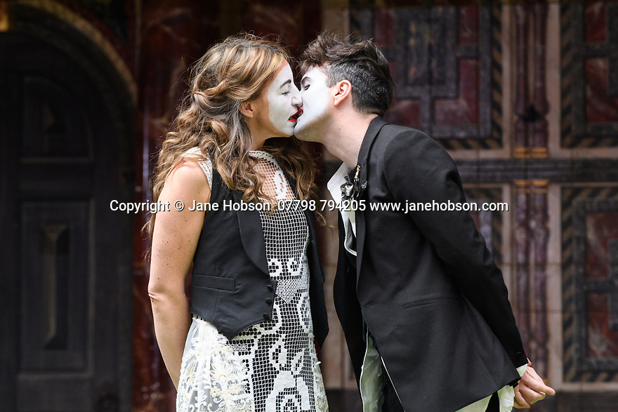 "Shakespeare's Globe presents ROMEO AND JULIET, by WIlliam Shakespeare, directed by Daniel Kramer, as part of Emma Rice's ""Summer of Love"" season. Picture shows: Kirsty Bushell (Juliet), Edward Hogg (Romeo)"