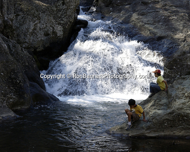 Boys play in Catoctin Mountain stream Maryland, Fine Art Photography by Ron Bennett, Fine Art, Fine Art photography, Art Photography, Copyright RonBennettPhotography.com ©