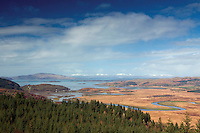 Crinan, the River Add and the Sound of Jura from An Cruach Mhor, Dunardry, Argyll & Bute