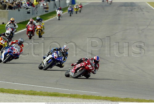 37. WILLIAM DE ANGELIS (ITA), Ducati, Superstock European Championship Race, Ricardo Tormo Circuit, Valencia 030302 Photo:Neil Tingle/Action Plus...2003 .man men motorcycle motorcycles bike bikes......  ..