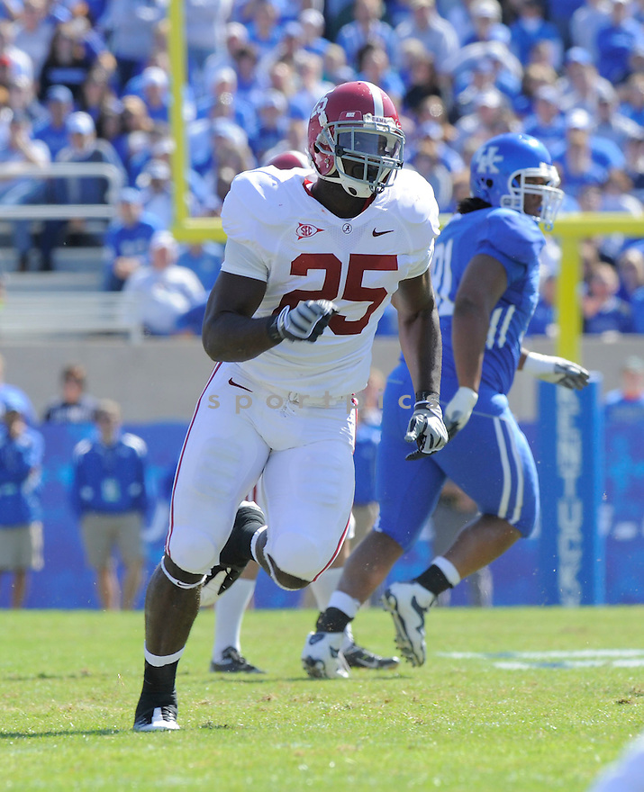 ROLANDO MCCLAIN, of the Alabama Crimson Tide, in action during the Crimson Tide game against the Kentucky Wildcats on October 2, 2009 in Lexington, KY. The Crimson Tide beat the Wildcats   38-20 ...
