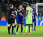 Leicester's Gokhan Inler argues with Manchester City's Aleksander Kolarov over the award of a drop ball<br /> <br /> Barclays Premier League- Leicester City vs Manchester City - King Power Stadium - England - 29th December 2015 - Picture - David Klein/Sportimage