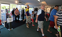 Pictured: Supporters flock to the club shop to be the first to buy the new shirts. Saturday 21 June 2014<br />
