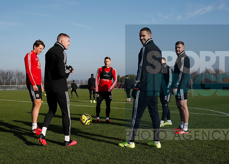 Billy Sharp of Sheffield Utd during the Press Conference & Training at the Steelphalt Academy, Sheffield. Picture date: 7th February 2020. Picture credit should read: Simon Bellis/Sportimage