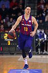 League ACB-ENDESA 2018/2019. Game: 14.<br /> FC Barcelona Lassa vs Monbus Obradoiro: 79-73.<br /> Thomas Heurtel.