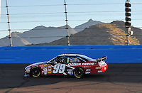 Nov. 7, 2008; Avondale, AZ, USA; NASCAR Sprint Cup Series driver Carl Edwards during qualifying for the Checker Auto Parts 500 at Phoenix International Raceway. Mandatory Credit: Mark J. Rebilas-