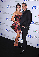 WEST HOLLYWOOD, CA - JANUARY 26:  Kate Beckinsale and Len Wiseman arrive at the Warner Music Group Annual Grammy Celebration at the Sunset Tower Hotel on January 26, 2014 in West Hollywood, California. Credit: PGKirkland/MediaPunch