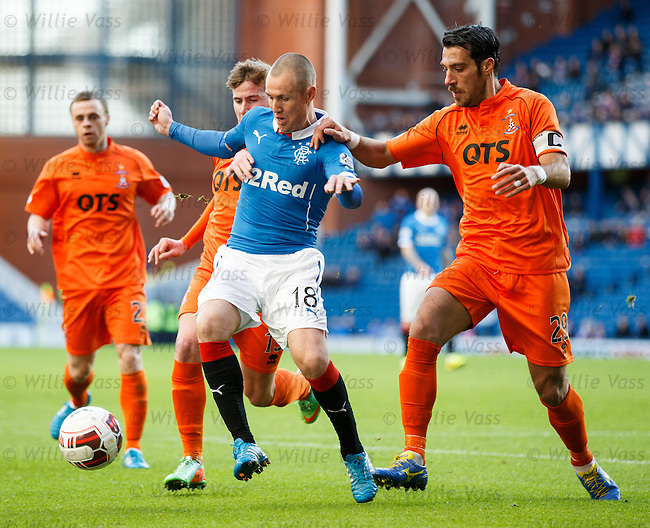 Kenny Miller muscled off the ball