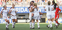Santiago, Chile: American's player Sydney Leroux (C) celebrate a goal against Korea DRP's  team during the finals match, of the Fifa U-20 Womens World Cup the at Florida´s Municipal Stadium, on December 07 th, 2008. By Grosnia / ISIphotos.com.