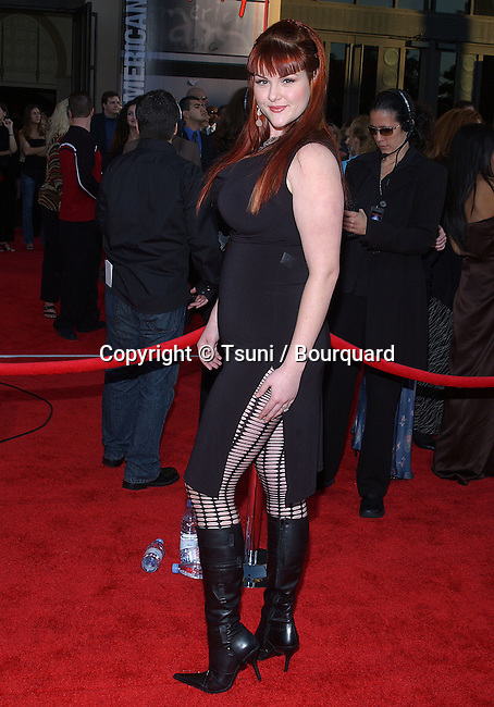 "Sarah Rue arriving at the "" 31th Annual American Music Awards "" at the Shrine Auditorium in Los Angeles. November, 16, 2003."
