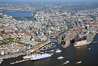 Hamburg mit Elbe und Alster: EUROPA, DEUTSCHLAND, HAMBURG, (EUROPE, GERMANY), 06.09.2013: Hamburg mit Elbe und Alster