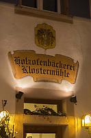 Europe/Allemagne/Bade-Würrtemberg/Forêt Noire/ Gengenbach: Boulangerie: Holzofenbäckerei Klostermühle , ancienne boulangerie de l'Abbaye - Détail enseigne