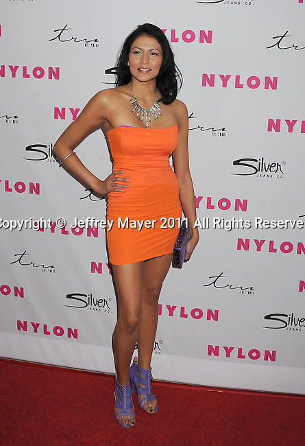 HOLLYWOOD, CA - MARCH 24: Tinsel Korey arrives at NYLON Magazine's 12th Anniversary Issue Party With The Cast of Sucker Punch at Tru Hollywood on March 24, 2011 in Hollywood, California.