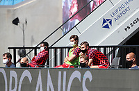16th May 2020, Red Bull Arena, Leipzig, Germany; Bundesliga football, Leipzig versus FC Freiburg;   Substitutes of RB Leipzig on the substitutes bench wearing masks