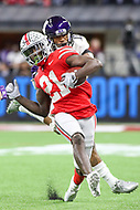 Indianapolis, IN - December 1, 2018: Ohio State Buckeyes wide receiver Parris Campbell (21) catches a pass during the Big Ten championship game between Northwestern  and Ohio State at Lucas Oil Stadium in Indianapolis, IN.   (Photo by Elliott Brown/Media Images International)