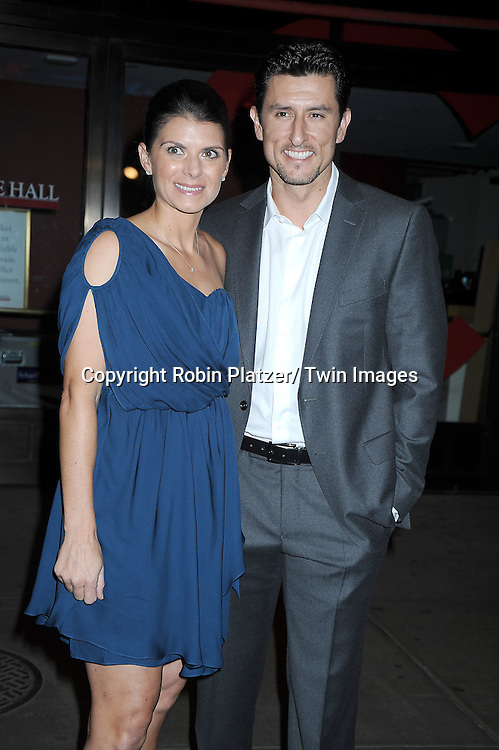 Mia Hamm and husband Nomar Garciaparra  attending The Glamour Magazine 20th Annual Women of the Year on November 8, 2010 at Carnegie Hall in New York City.