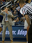 South Dakota State State head coach T.J. Otzelberger calls for a timeout in the scond half of an NCAA college basketball game against Nevada in Reno, Nev., Saturday, Dec. 15, 2018. (AP Photo/Tom R. Smedes)