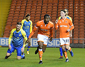 18-12-2018  FAC2 Replay Blackpool v Solihull Moor<br /> <br /> Joe Dodoo, celebrates his goal Blackpool's second.