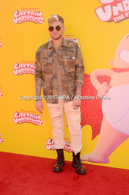 """LOS ANGELES - MAY 21:  Adam Lambert at the """"Captain Underpants"""" Los Angeles Premiere at the Village Theater on May 21, 2017 in Westwood, CA"""
