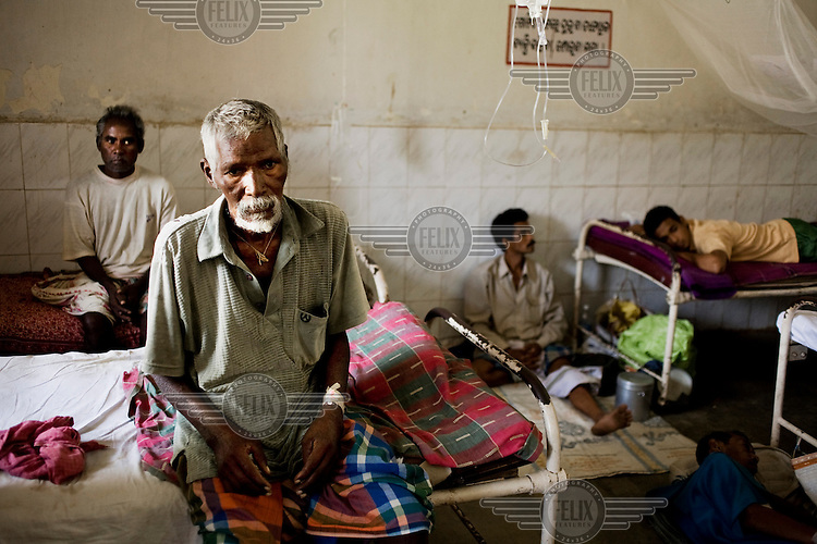Malaria patients in a clinic in Orissa state.
