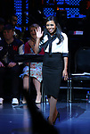 Adrienne Warren during the Curtain Call for the Roundabout Theatre Company presents a One-Night Benefit Concert Reading of 'Damn Yankees' at the Stephen Sondheim Theatre on December 11, 2017 in New York City.