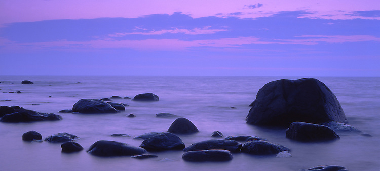 Europe, SWE, Sweden, Oland, Rocky coast, Evening, Rocks, Dusk....[ For each utilisation of my images my General Terms and Conditions are mandatory. Usage only against use message and proof. Download of my General Terms and Conditions under http://www.image-box.com or ask for sending. A clearance before usage is necessary...Material is subject to royalties. Each utilisation of my images is subject to a fee in accordance to the present valid MFM-List...Contact | archive@image-box.com | www.image-box.com ]
