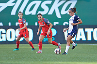 Portland, OR - Saturday July 22, 2017: Hayley Raso, Mallory Pugh during a regular season National Women's Soccer League (NWSL) match between the Portland Thorns FC and the Washington Spirit at Providence Park.