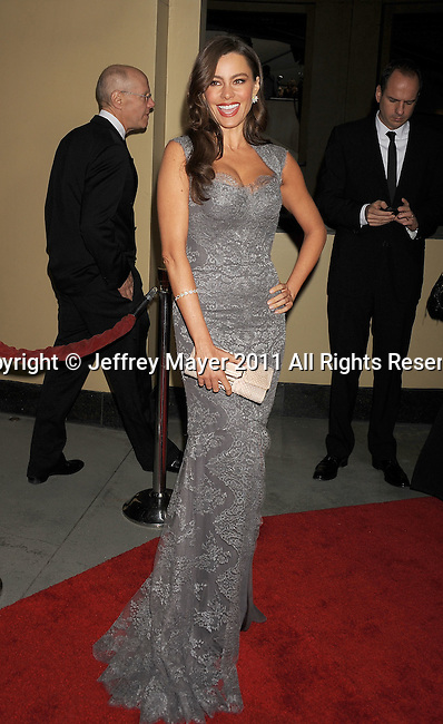 HOLLYWOOD, CA - January 29: Sofía Vergara arrives at the 63rd Annual DGA Awards held at the Grand Ballroom at Hollywood & Highland Center on January 29, 2011 in Hollywood, California.